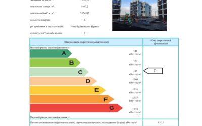 Енергетичний сертифікат Зразок